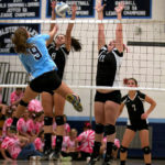 Pomona and Ralston Valley Volleyball go Pink on Wednesday night