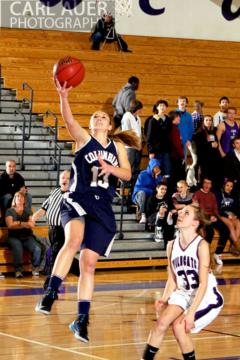 January 15th, 2013:  A Columbine player gets an easy shot in the game against the Arvada West Wildcats Tuesday night at Arvada West High School.