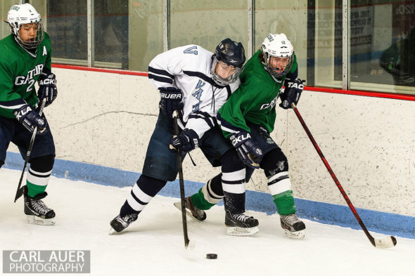 February 22, 2013: Arvada, Colorado - Both Standley Lake (green) and Valor Christian fought hard in their Sweet 16 game at the Apex Center in Arvada