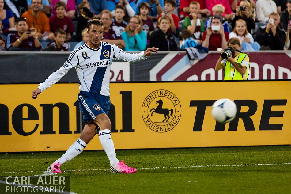 September 30, 2012: LA Galaxy's David Beckham takes a corner kick during the MLS Soccer Match between the Colorado Rapids and the Los Angeles Galaxy at Dick's Sporting Goods Park in Commerce City, Colorado