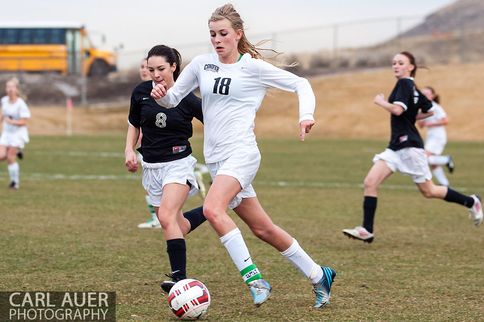 10 Shot - HS Girls Soccer - Pomona at Conifer