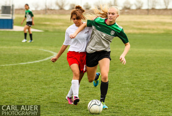 Arvada Bulldogs Girls Soccer vs D'Evelyn - 10 Shot